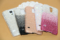 Handmade Bling Swarovski Elements Crystal Rhinestone Diamond Case Cover For Samsung Galaxy S5 SV i9600 Free Shipping