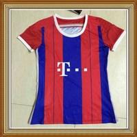 Free Shipping!! BayenFC Home Red Women Soccer Jersey 14/15,Thailand Quality BayenFC lady Soccer Shirt+Embroidery Logo