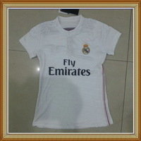 Free Shipping!! Real Madrid Home White Women Soccer Jersey 14/15,Thailand Quality Real Madrid lady Soccer Shirt+Embroidery Logo