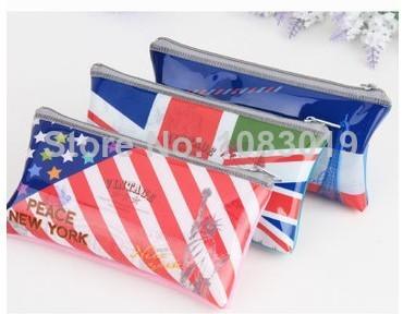 PARIS / NEWYORK / LODON Frozen Purses Wallet cute creative pen pencil bags case pouch children school Stationery Bags 3092(China (Mainland))