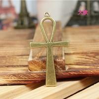 62 cross design necklace bracelet diy component  20pcs/lot  55*29MM  pendants alloy  lucky Charms  Jewelry Findings