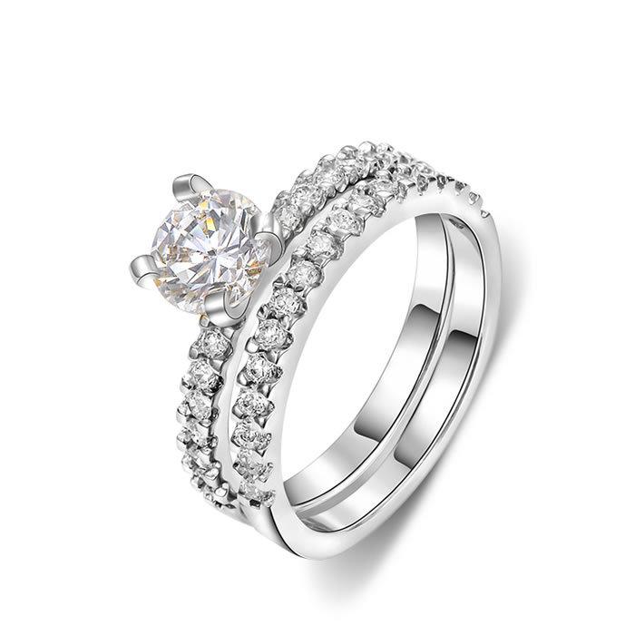 Cz Wedding Ring Sets Promotion Online Shopping For Promotional Cz Wedding Ring Sets On