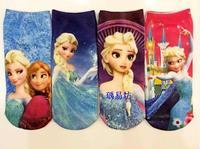 8 pairs/lot 2014 new frozen socks children's cartoon socks children socks cartoon for kids ,drop shipping