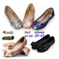 New 2014 Summer Shoes Woman Brand Fashion Sequins Flats Shoes Casual Ballerina Ballet Flat Sandals Serpentine Women's Shoes