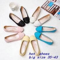 New 2014 Sweet Gentlewomen Princess Casual Cute Shoes Flat Heel Designer Shoes Women's Ballet flats And Ballerina flats