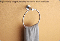 Free Shipping / Towel, Solid Brass Construction, Chrome polished finish, hardware bathroom accessories bathroom towel ring