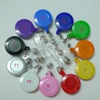 110pcs 11 Color Mix Non-Swivel Clip Retractable Badege ID Card Holder