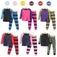 2014 New arrive Girls boys Pajamas Sets Kids Autumn Clothing Set Wholesale Children Casual long Sleeve Sleepwear 6sets/lot hot