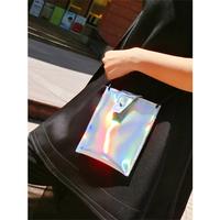 Sh fashion colorful mobile phone bag laser artifact bag colorful silver satanisms