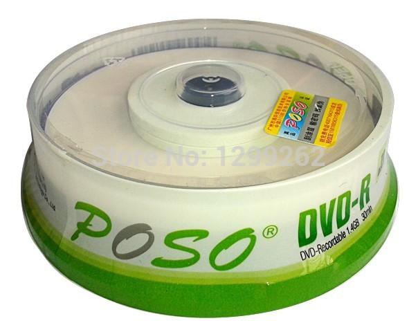 Wholesale 10discs/lot High Quality A+ POSO 3INCH Mini DVD-R Printable Blank Discs 4X 1.4GB 30MIN 8CM DVDR Disks Blank DVD R(China (Mainland))