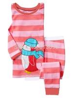 stripe, Baby boys girls/Children pajamas, Pure Cotton long sleeve T-shirt + pant sleepwear/clothing sets 6pcs/lot