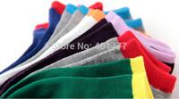 Free Shipping New High Quality Women /Men soild color Comfortable sports Socks 19 color 1 lot=20pcs=10pairs size: 37-42
