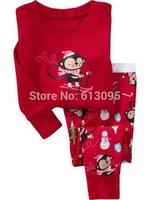 monkey,Wholesale Baby Pure Cotton long sleeve T-shirt+pant/ pajamas/casual homewear suit / clothing set  6pcs/lot