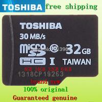 100% Original TOSHIBA brand NEW TF Micro SD Real Capacity  8GB 16GB 32GB 64GB High speed CLASS 10 TransFLash  Memory Card
