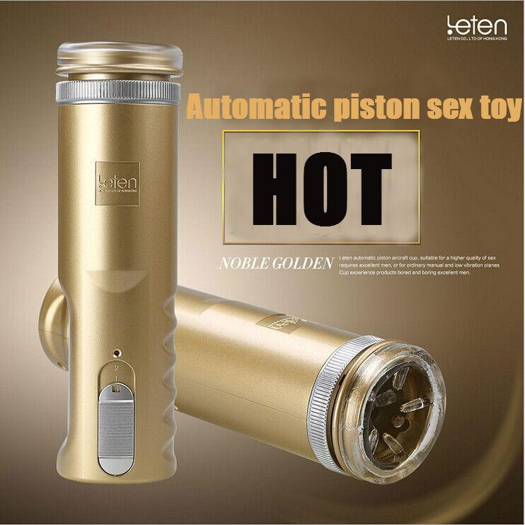 Fully automatic LETEN piston X - 9 Masturbators Macho Man Trainer, Sex Toys for Man gold Male Masturbator Cup, Silicon Pussy(China (Mainland))