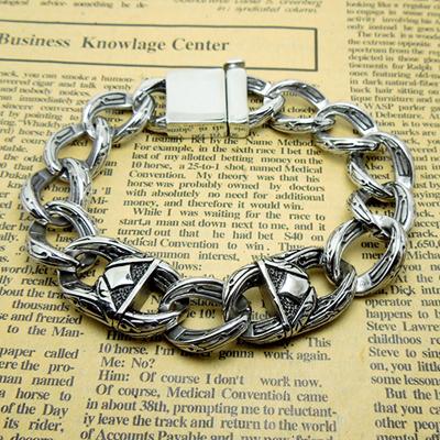 in acciaio inox al titanio vb045 thai stile argento bracciale vintage degli uomini gioielli 2014 ingrosso