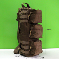 1000D nylon Tactical MOLLE Assault Go Bag Shoulder Sling Military / Gym Hiking Camping Pack, waterproof, free shipping