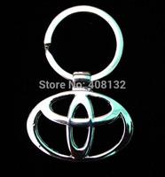free shipping 1000 pcs/lot Fashion Car Logos Titanium Key Chain Creative Gift Car Keychains Ring Keyfob
