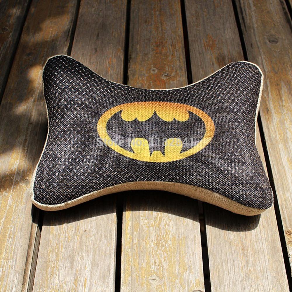 Bande dessinée créative superhero batman hollywood la vente directe d'usine de gros et de voiture personnalisée oreiller oreillers