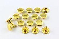 9mm Gold Round Double Cap Rapid Rivet Studs
