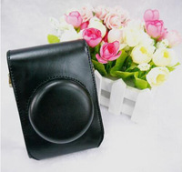 Black Leather Camera Case Bag Protector Cover For Panasonic Lumix DMC-LX7 LX5+ Free shipping