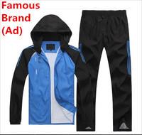 2014 New Brand Men Fashion Sportswear Coat Spring Autumn Sports Tracksuit Leisure Jogging Sport Suit Hoodies Sweatshirts