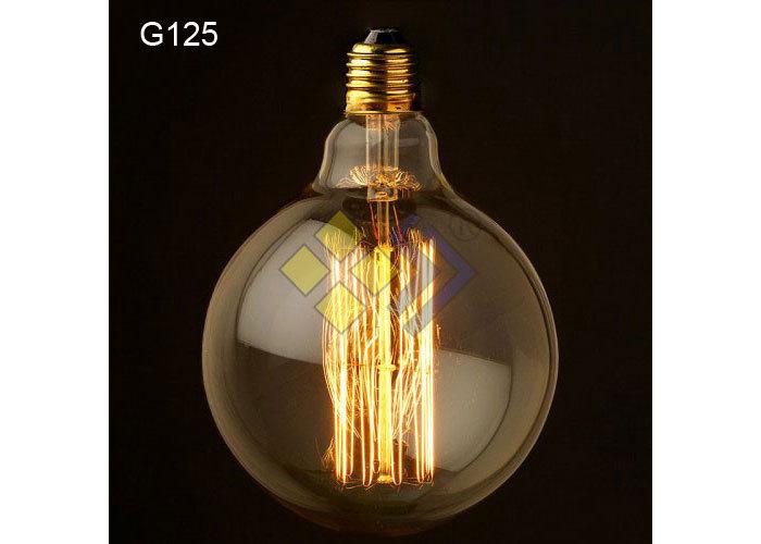 Hot selling! Vintage retro G125 Edison bulb special lighting filament pure lamp Art light big Halogen bulb 110v/220v 40w(China (Mainland))