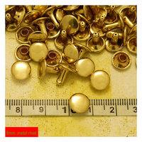 9mm Metal Rivets, Ball Cap Double Headed  Light Gold Plated Metal Rivets