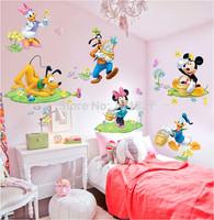 Extra large Cartoon Kid Wall Decals Butterfly Wall Stickers Wallpaper Flower Sticker Home Decoration Mural Nursery Art