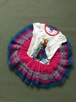 newest Girls summer cartoon dress  kids children Clothes dress  baby clothing