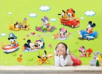 Cartoon Kid Wall Decals Wall Stickers Home Decor DIY Wallpaper Aircraft Sticker Home Decoration Mural Poster Nursery Art