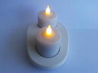 Free shipping; Wireless charging gravity sensor waterproof 0.1W LED Candle Light, 2pcs/set, 50sets/lot