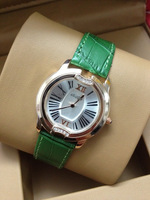 watch fashion women quartz Hot luxury women watches brand with golden face and green leather band