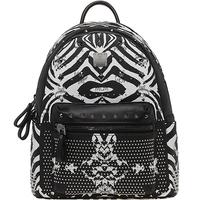 New arrival 2014 m zebra print serpentine pattern mc rivet backpack women's handbag school bag