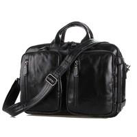 2015 Luxury genuine leather bag men handbags brand bolsos male shoulder bag business large capacity multifunction men travel bag
