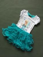 Girls frozen cartoon dress  kids elsa anna children Clothes dress  baby clothing