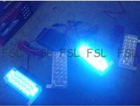 Car Truck 4x22 LED Flash Emergency Strobe Grill Light Super Bright All Blue freeshipping