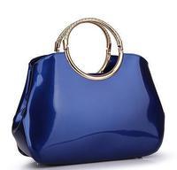2014 New Patent Leather Women Handbag Luxury Brands Fashion Totes Women Shoulder Bag Crocodile Grain Women Handbags Wristlets