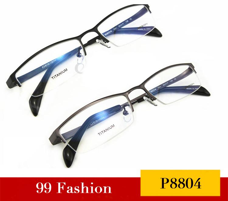 2014 NEW ARRIVING Designer P8804 Fashion Pure Titanium Myopia Glasses Frame Brand Half Frame Men Glass Frames Free Shipping(China (Mainland))