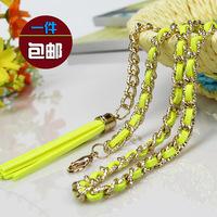 Fashion new metal belt ms han edition joker tassel waist chain waist belt. Free shipping