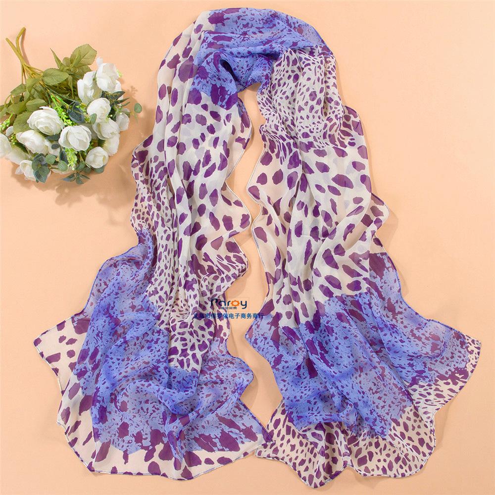 scarf leopard print women's scarf long shawl cape silk chiffon tippet muffler 2014 new design Scarves(China (Mainland))