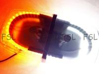 240 LED Car Truck Emergency Beacon Light Bar Hazard Strobe Warning Lamp Amber & White