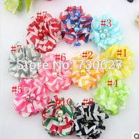wholesale 2 inch mini chiffon  flowers pearl diamond heads flowers 100pcs/lot  for hair headbands DIY flower