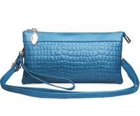 New 2014 women handbag genuine leather clutch women leather handbag fashion stone pattern women messenger bag leisure shoulder