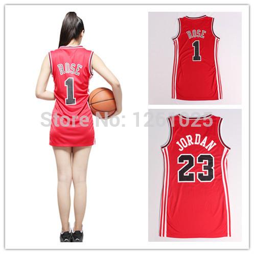 #23 Michael Jordan & Derrick Rose women Basketball Jersey of embroidered ladies clothing free shipping(China (Mainland))