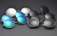 Unisex Round Shades Polarized UV400  Vintage  Peace Sunglasses Fashion 6 Colors Factory Sales