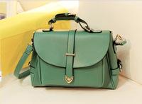 2014 Fashion Luxury Women PU Leather Handbag Vintage Purse Student Ladies Travel Messenger Bags,New Shoulder Bag Free Shipping!