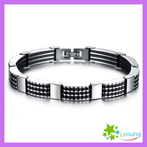 Famous Brand Hand Accessories Stainless Steel Bangles Genuine Silicone Bracelets Wristbands Marriage Wedding Gift Wholesale