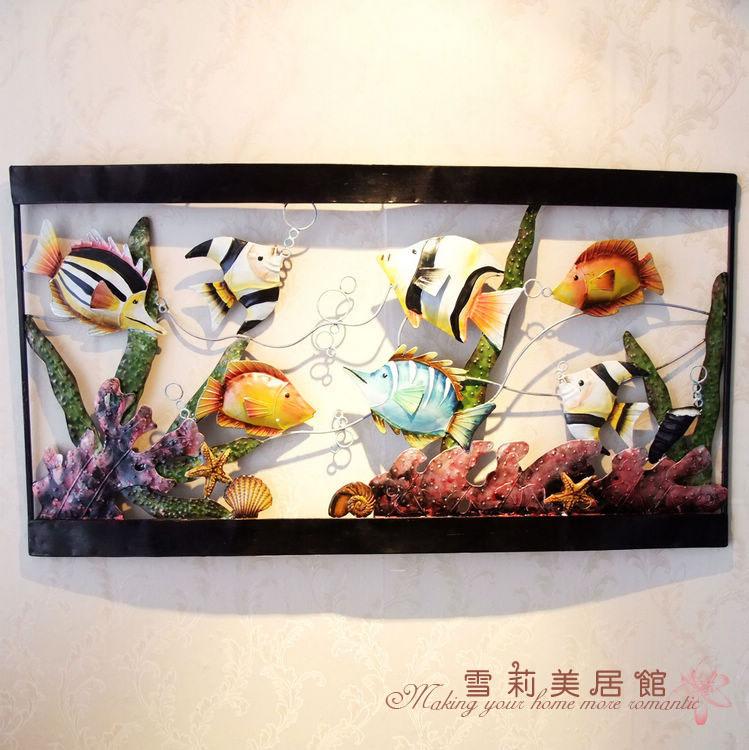 novo ferro forjado barras de ferro pintura decorativa da parede casa acessórios aquário tapeçarias c053 continental(China (Mainland))