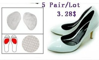 Wholesale 5Pairs/ Lot High Heel Shoes Match-elastic Silicone Gel Cushion Insoles Anti-Slip Shoes Pads